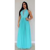 Tecido azul tiffany para vestido