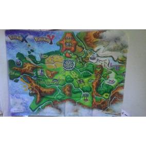 Poster Em Tecido Pokemon X E Y Edição De Colecionador