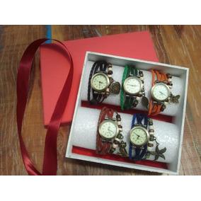 b284253ad96 Kit 5 Relógios Vintage Feminino Em Couro + Brinde Exclusivo