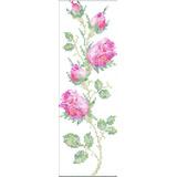 Matriz Bordado Ponto Cruz Barrinhas Floral Botões Rosas C36