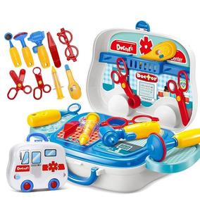 Kit Médico Maleta Ambulância Brinquedo Infantil Doctor Kids