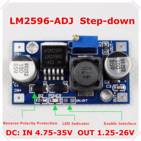 Conversor Dc-dc Step Down Regulador Tensão Lm2596 1.25v-30v