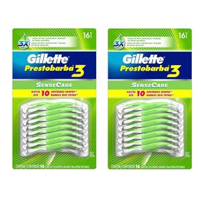 32 Rastrillos Gillette Prestobarba 3 Sense Care Desechables a1019761c541