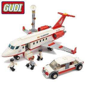 Lego Compatível Bloco De Montar Aeroporto Avião 334 Peças