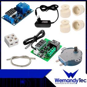 Kit Chocadeira, Termostato, Temporizador, Isoladores, Motor