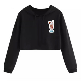 Cropped Moletom Feminino Riverdale Serpents Milk Shake Pops