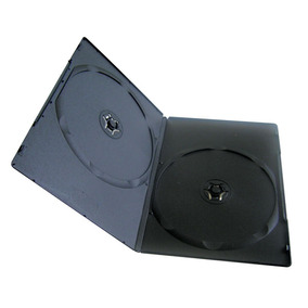Estuche Para Dvd, Cd Negro De Plastico 50 Unidades - Slim