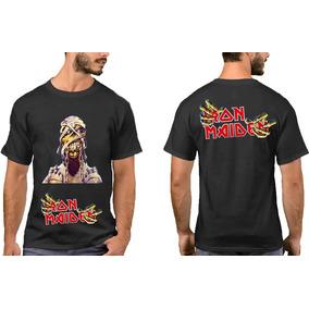 Camisa Banda De Rock Iron Maiden 100% Algodão Masc E Femin 86c81ac3165