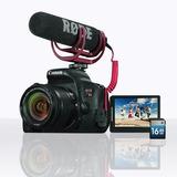 Canon Eos Rebel Sl2 Ef-s 18-55 + Rode Mic + Sd16gb Kit Espec