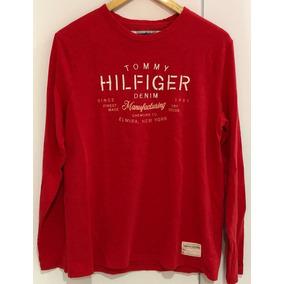 bac2853b73a Camisa Social Tommy Hilfiger Manga Longa Vermelha - Calçados