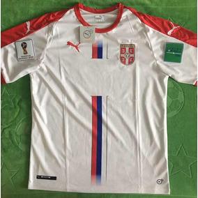 Jersey Serbia Blanca Local Con Parches Mundial Rusia 2018 a2e268bfc4a02