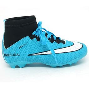Chuteira Infantil Nike Cano Alto Campo Várias Cores Nº 25a33 fa57decb80fea
