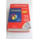 Diccionario Larousse Concise Español-ingles/english-spanish