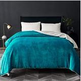 Sabana Manta Reversible Para Cama Sofa Color Azul