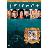 Dvd Friends 3ª Temporada Original Lacrado 4 Dvds Com Luva
