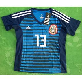 Jersey Portero Arquero México Niño Youth Azul Memo Ochoa 13 79dbeb6bc15a4