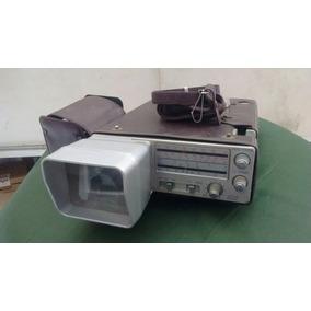 Mini Tv Radio Portatil Com Lente Broksonic 12v Pilha E Luz