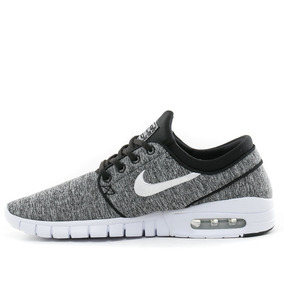 sports shoes 8c930 8ff7c Nike Sb Air Max Stefan Janoski Black White Silver- Hombre