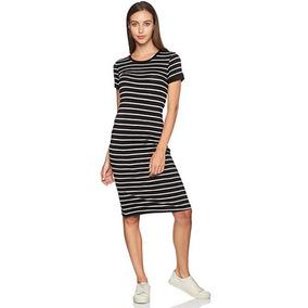6329c6cb0 Vestido Blanco Con Negro Lineas - Vestidos Cortos de Mujer en ...