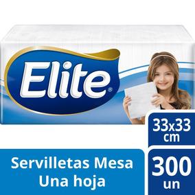 Servilleta Elite Clasica 33x33cm Para Coctel 300 Unidades