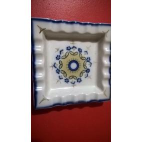 Cenicero De Porcelana Pintado A Mano Portugal