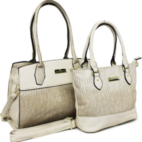 58e8408e6 Bolsa Quadriculada Branca E Bege - Bolsas de Couro Bege no Mercado ...