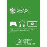 3 Meses Xbox Live Gold Membership Card-descripción Oferta!!