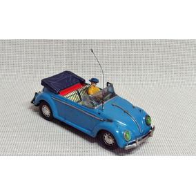 Carro Volkswagen Antigo Lata Fusca Japão 27 Cm Bau