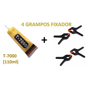 Cola T-7000 + 4 Grampos Presilhas Fixa Tela Preço Especial