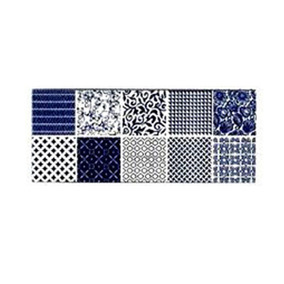 Ceramica Acuarela Trendy Azul Chic 20x50 1era (x Pieza) Sp