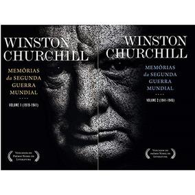 Livro Memórias Da Segunda Guerra Mundial Churchill 1 E 2