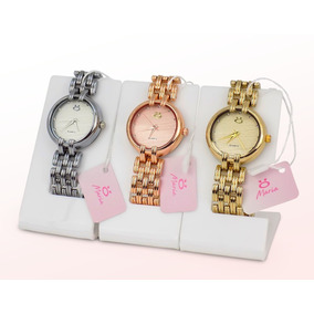 Kit 3 Relógios Feminino Rosê Dourado Original Barato Luxo