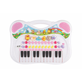 Piano Teclado Musical Animal Fazendinha - Rosa - Braskit