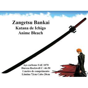 Zangetsu Bankai Espada Bleach De Combate Katana Aço Carbono