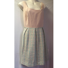 S.l. Fashions, Hermoso Vestido Estilo Tweed. T.l