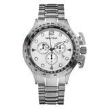 Usado - Norte De Santander. Reloj Nautica Xz Cronografo Taquimetro Tablero  Blanco Acero 1518967599a0