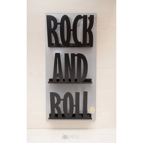 Revistero Rock And Roll Organizador Pared Metal Decoracion
