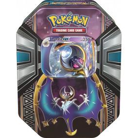 2x Lata Pokémon-gx Lendas De Alola Lunala + 10 Brindes