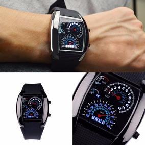 3393edf6d10 Relógio Velocímetro Rpm Led De Pulso Binário Digital