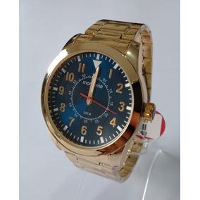 Relógio Masculino Dourado Mondaine Original Ref99138gpmvde2.