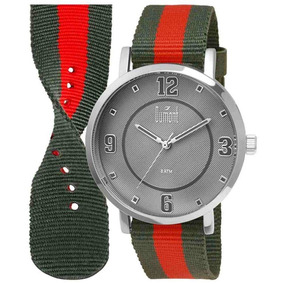 Relógio Analógico Dumont, Pulseira De Nylon, Caixa 4,3 Cm
