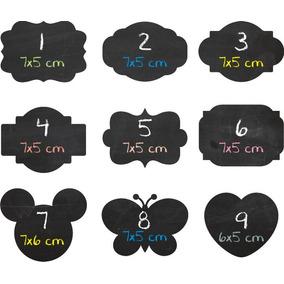5x Etiquetas Stickers Pizarra Props Candy Bar 7x5 Cm
