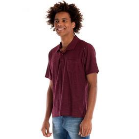 9206ab809b Camisa Polo Vinho Lisa - Calçados