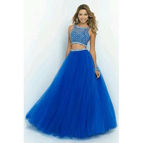 Vestidos cortos en azul francia