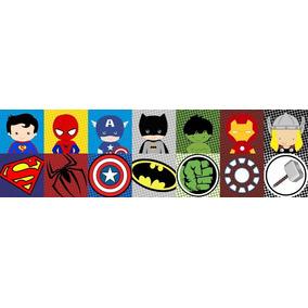 5 Adesivo Infantil Faixa Border Super Herois Menino