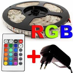 Fita Led Rgb 5050 5m 16 Cores Pro Dagua + Fonte + Controle