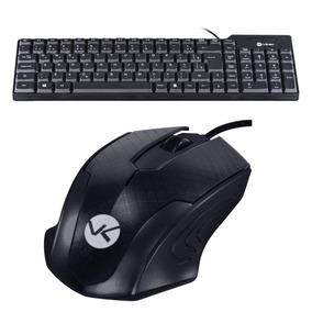 Kit Teclado E Mouse Básico Com Fio Usb Qualidade