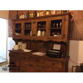 Armário De Cozinha Completo De Madeira Maciça 2x1,8m Peroba
