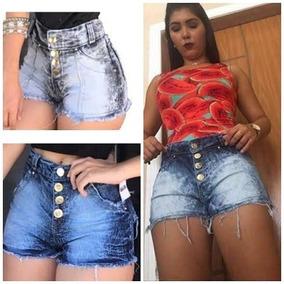 5 Short Jeans Cintura Alta Feminino Barato Roupas Femininas