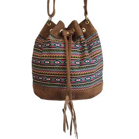 Bolsas Femininas Tecido Étnico Tipo Saco Alça Transversal c98eba468e4